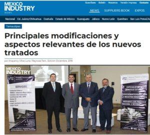 Mexico Industry, INDEX, Maquiladoras, Evento de Vázquez Tercero y Zepeda, VTZ, Adrián Vázquez, Eduardo Zepeda, Israel Morales, Abogados Comercio Exterior