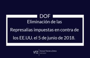 México elimina represalias en contra de productos de los Estados Unidos por la eliminación de medidas 232