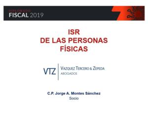 Diplomado Fiscal 2019, Impuesto sobre la Renta de las Personas Físicas, Colegio de Contadores Públicos de Guadalajara