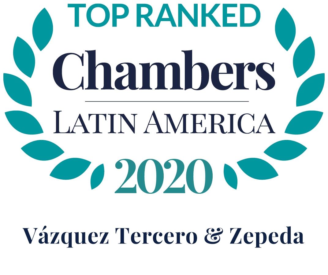 Top Ranked, Chambers Latin America 2020, Vazquez Tercero & Zepeda, VTZ