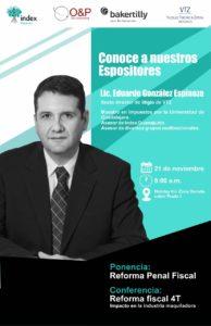 Index Reynosa, Conferencia sobre la Reforma Fiscal de la 4T y la Reforma Penal Fiscal