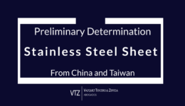 Mexican Ministry of Economy published in the Official Gazette the Preliminary Determination of the antidumping investigation on Stainless Steel Sheet from China and Taiwan
