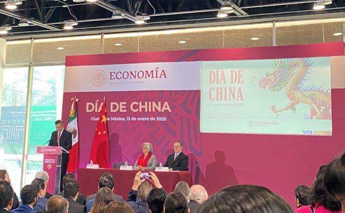 Inversión china en México, intercambio comercial México-China, EEUU, Canadá y China, Día de China en la Secretaría de Economía, oportunidades de negocio México-China