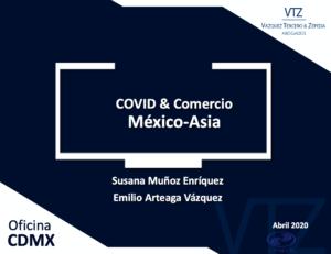 COMCE, Webinar, Oportunidades Comerciales en Asia, China, Corea, Japón, VTZ, Comercio Internacional