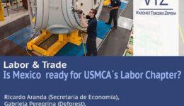 USMBA webinar, trade and labor, USMCA, comercio y laboral, VTZ, despacho de abogados comercio internacional