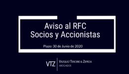 Aviso al RFC, Aviso Fiscal, Socios, Accionistas, SDRL, SA, Sociedad de Responsabilidad Limitada, Sociedad Anónima, Fiscal, SAT,