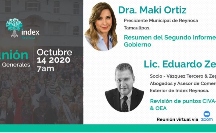 Index Reynosa, Reunión de gerentes generales empresas certificadas IVA e IEPS, OEA