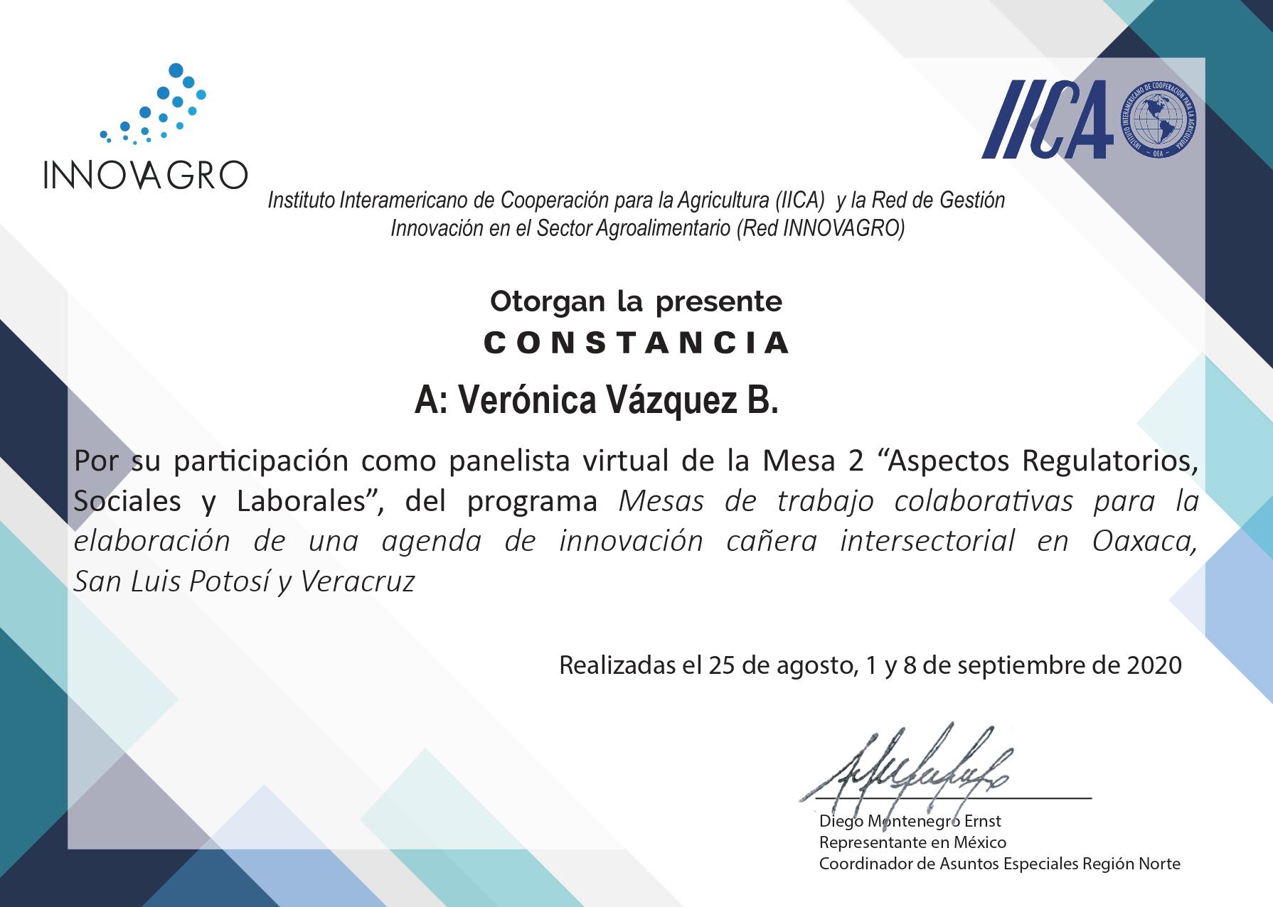 Verónica Vázquez, socia de VTZ, participó en una mesa de trabajo sobre el etiquetado en el IICA