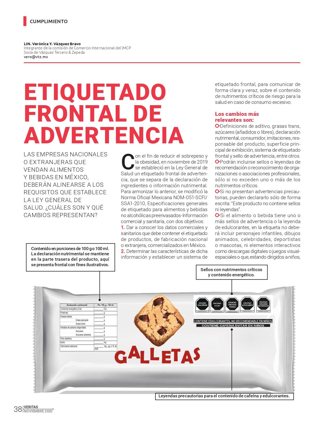 Artículo sobre el Etiquetado Frontal de Advertencia | Revista Veritas
