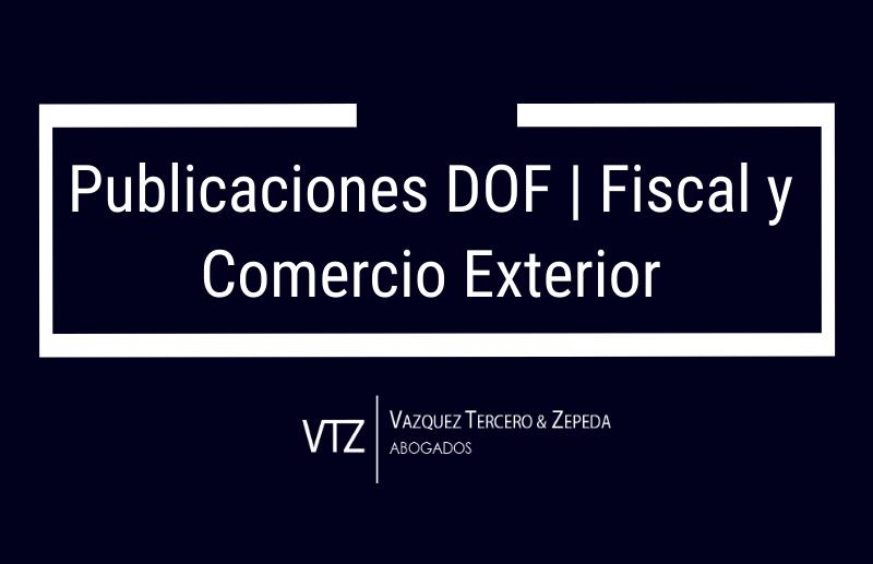 Publicaciones en materia Fiscal y de Comercio Exterior | Diciembre