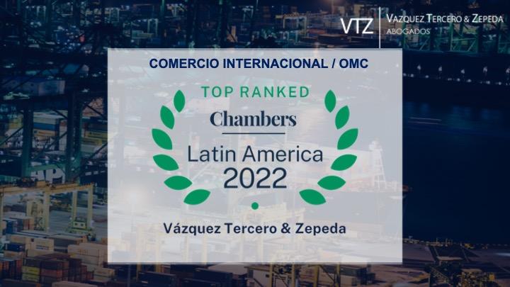 VTZ Abogados Líderes En Comercio Internacional / OMC – CHAMBERS 2022