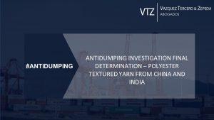 antidumping determination china india yarn